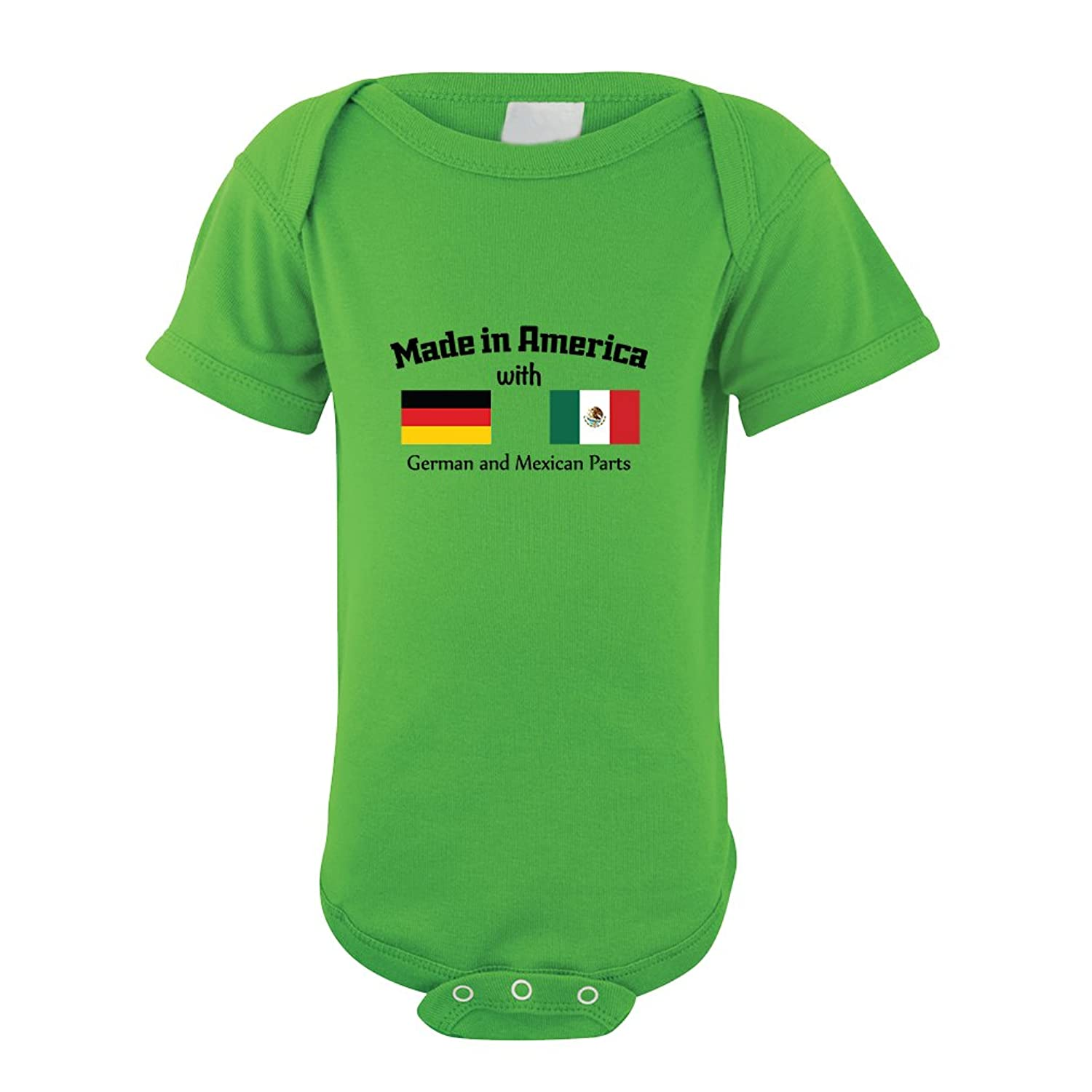 Amazon Made America With German Mexican Parts Baby Bodysuit e