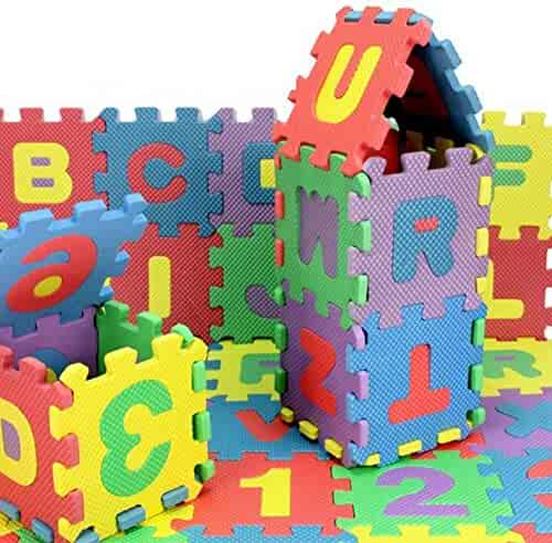 36 Pcs Childrens Puzzle Mat Digital Letter Educational Foam Cushion Cold-proof Environmentally Friendly Baby Crawling Mat Activity & Gear