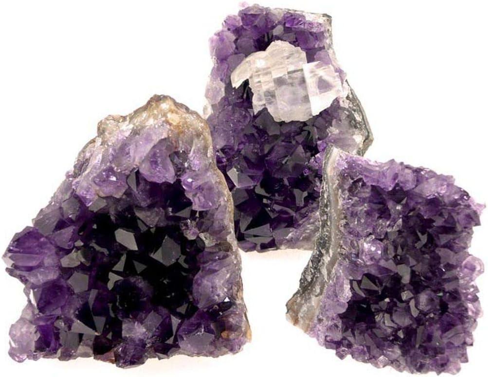 Drusa Amatista Uruguay con Base Plana(Pack 1 kg) Minerales y Cristales, Belleza energética, Meditacion, Amuletos Espirituales