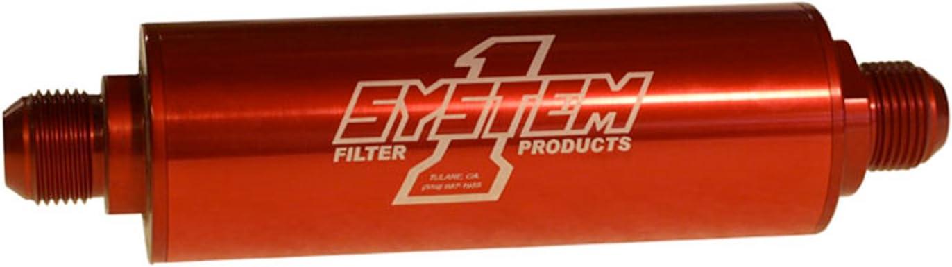 System One 202-202410 Billet Aluminum Inline Fuel Filter