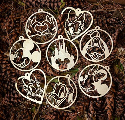 (Disney Ornaments Christmas Disney Decorations Vinyl Record Gold Plated Disney Ornament Vintage Minnie Christmas Mickey Christmas Vintage Disney Ornaments Mouse Disney Ornament Set Xmas Tree Ornaments)