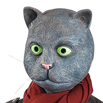 Carnival Toys - Máscara de látex gato con encabezado, color gris (1430)