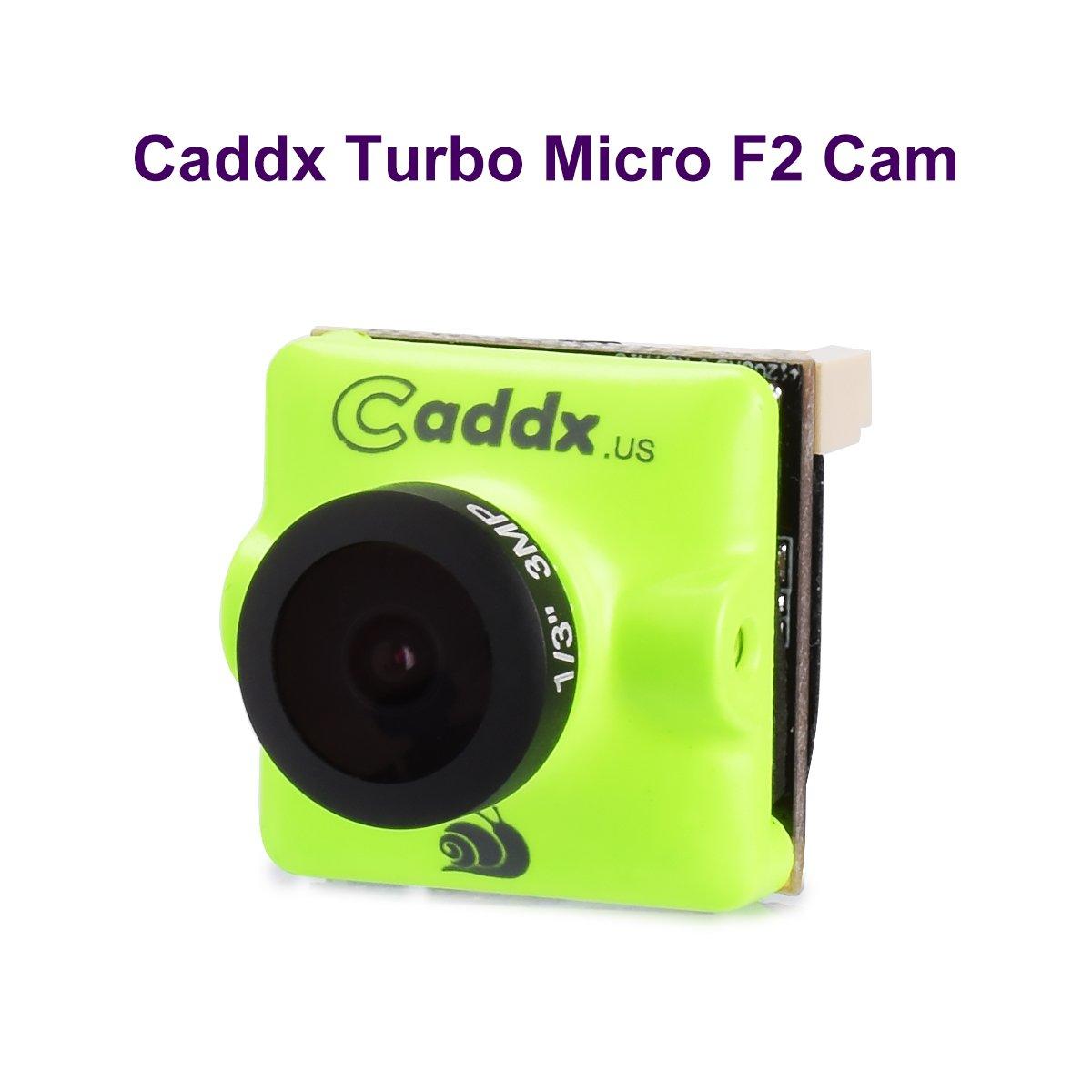 FPV Camera Caddx Turbo Micro F2 1200TVL 2.1mm Cam 1/3'' CMOS 16:9 NTSC PAL Switchable 2.1mm IR Blocked Green for FPV Racing Drone by Caddx
