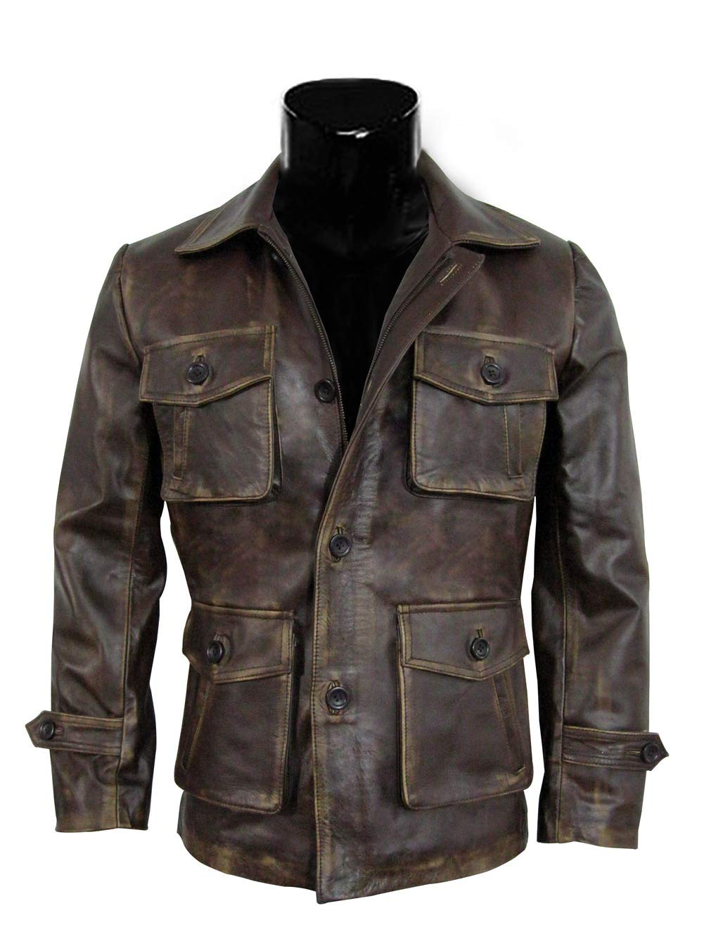 Brown Leather Jacket Men - Super Natural Distressed Leather Jackets for Men 6444911