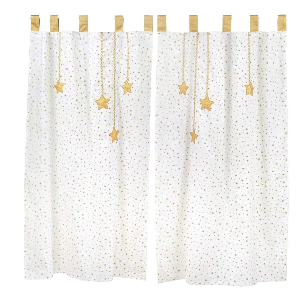 Moon and Stars Baby Crib Bedding Set Accessory - Curtain