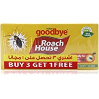 Habro Googbye Roach House Cockroach and Insect Glue Traps Professional Strength - 5 Pieces (Pack of 4)