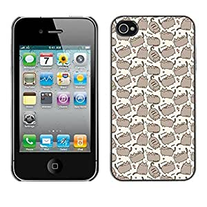 Design Hard ShellFunny Patter Cartoon Drawing For Apple Iphone 4/4S Case Cover