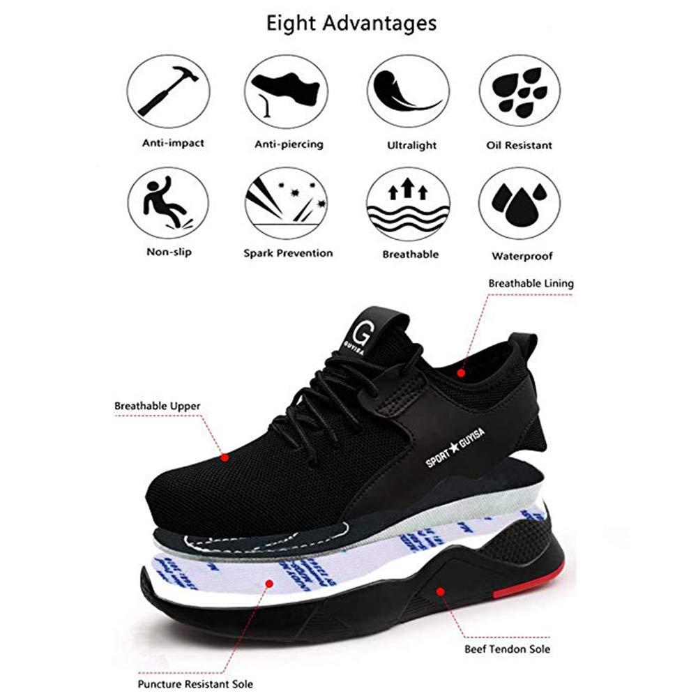 Superwl Scarpe Antinfortunistiche Uomo Donna s3 Scarpe da Lavoro con Punta in Acciaio Scarpe da Cantiere Leggere Sneaker