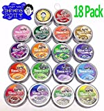 Crazy Aaron's Thinking Putty Mini Tin Gift Set of 18 As Pictured, Made in The USA, Age 3+