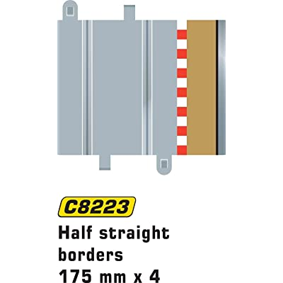 Scalextric C8223 Borders Tan Half Straight 6.75 inches: Toys & Games