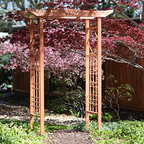 Wood Garden Arbor Arch Trellis Pergola Wedding Large (Wood Kits Arbor)
