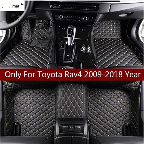 2009-2014 2015-2019 Luxury Leather Waterproof Anti-Skid Full Coverage Liner Front & Rear Mat//Set Custom Car Floor Mats for Toyota Highlander 2003-2008 red