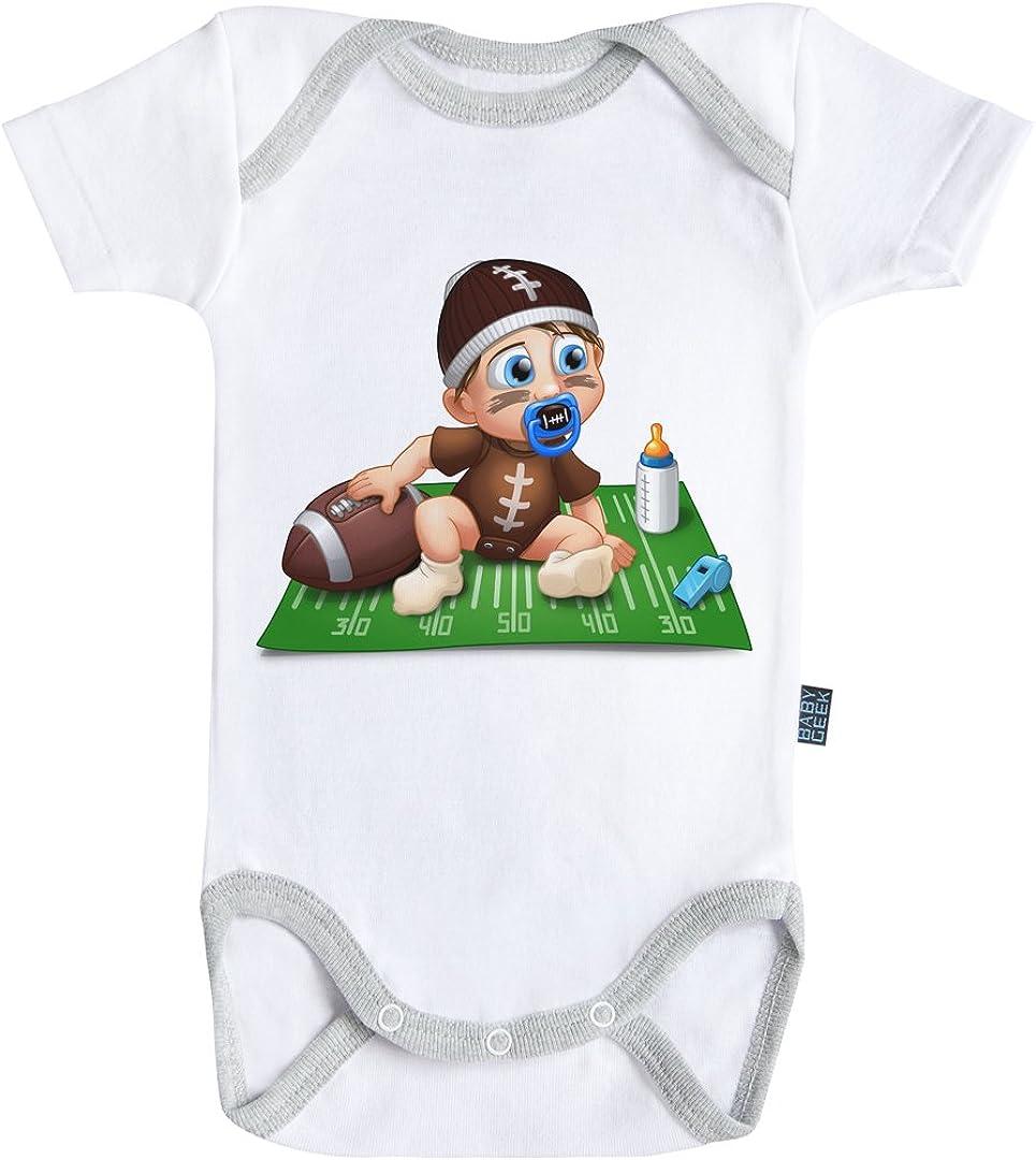 Coutures Grises Parent Body B/éb/é Manches Courtes Coton Blanc Baby Geek Un Jour Je Serai Un Gamer