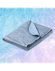 Marchpower Summer Cooling Blanket, Latest Japanese Arc-Chill Q-MAX>0.43 Cooling Fiber - Lightweight Cold Blankets Absorb Heat for Hot Sleeper Night Sweats Couch Bed Cozy Blanket