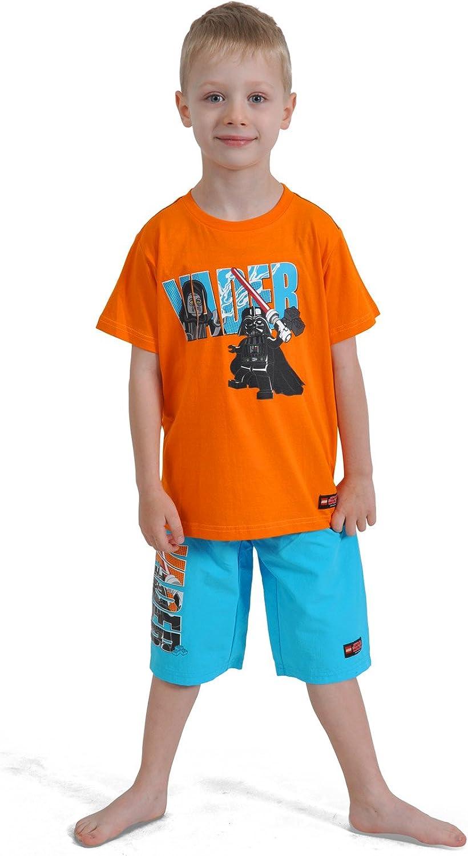 Darth Sidious Timmy 551 128 colore: Arancione in cotone Maglietta da bambino Darth Vader vs LEGO Star Wars