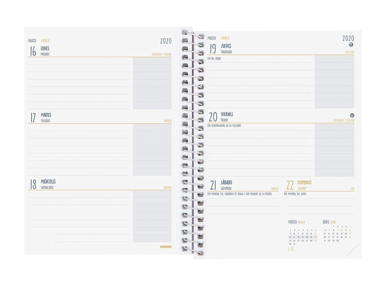Finocam - Agenda 2019-2020 semana vista apaisada español Prints Etnic
