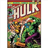 Incredible Hulk & Wolverine Comic Book Cover Wall Decal & Glow in the Dark Bedroom Kit
