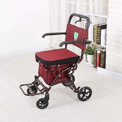 Old Man Carro de la compra, silla de ruedas plegable de mano ...