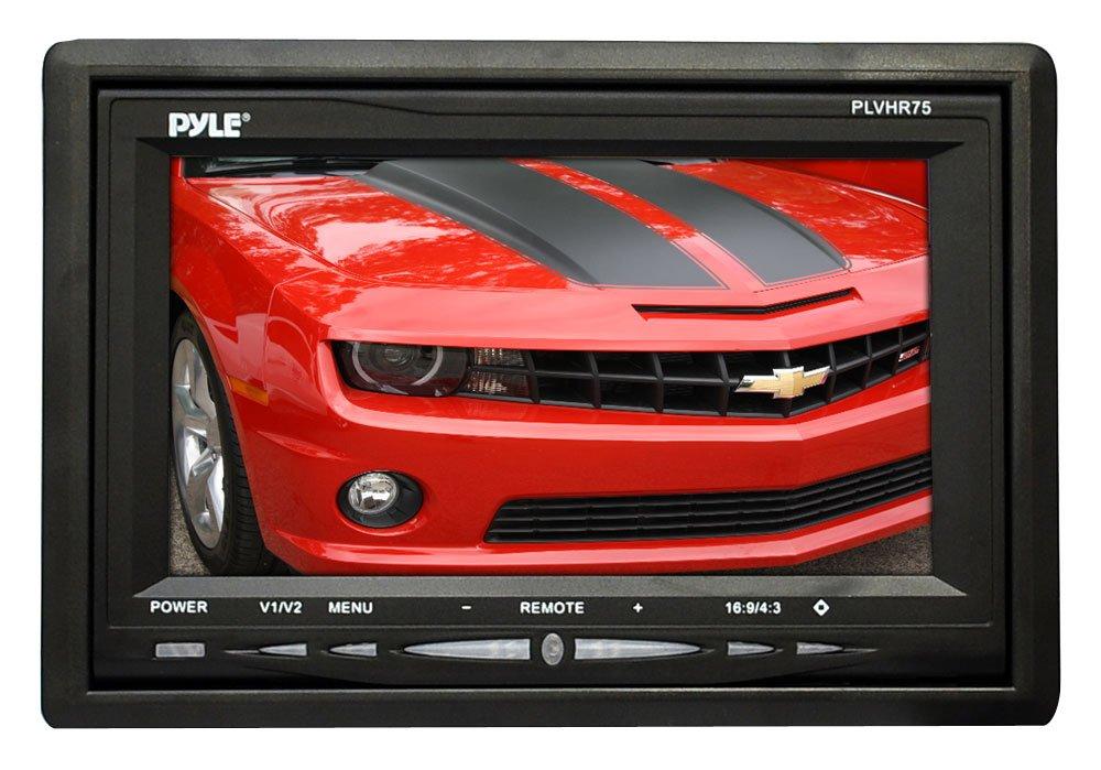 Pyle PLVHR75 7-Inch TFT Wide Screen Headrest Monitor Sound Around