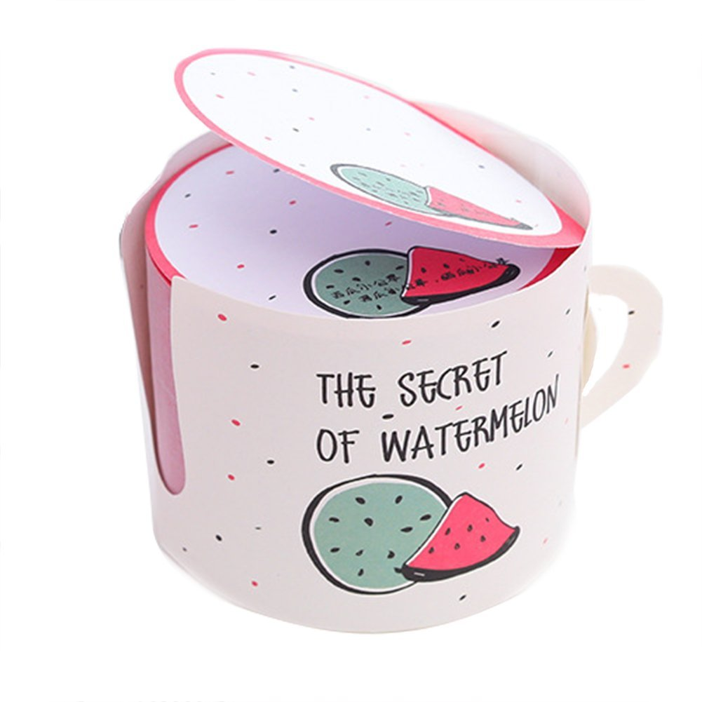Cup Design Self Stick Notes Classified Lables for Notebook Durable and Useful