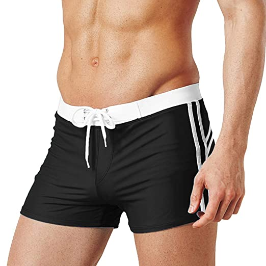 08d53f9754d Swimming Trunks, Youngh Men's Summer Fashion Simple Sports Fitness Shorts  Home Beach Trousers Black