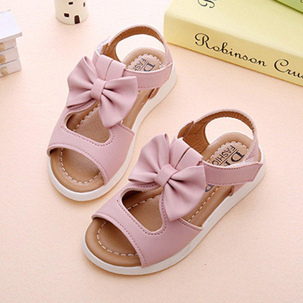 elegantstunning Girl Sandals Princess Shoes Bow Hollow Beach Shoes Anti-Slip