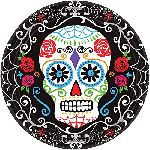 Day of The Dead Round Plates, 10 -