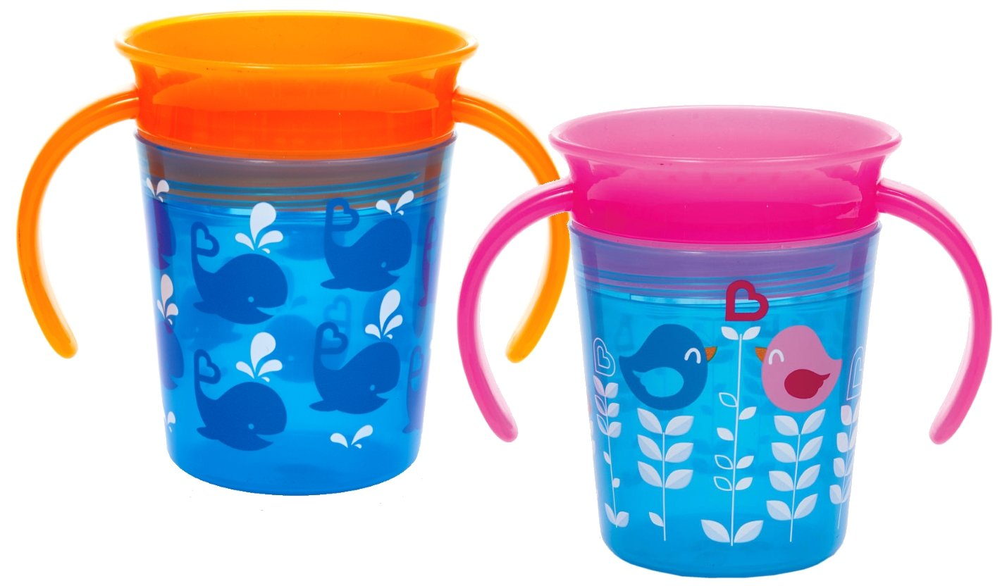 Munchkin Miracle 360 Trainer Cup, Pink/Blue, 2 Count 15967