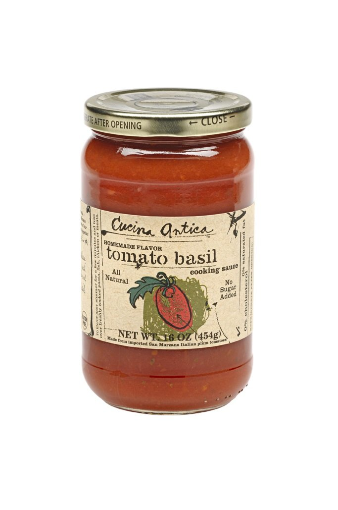 Cucina Antica Tomato Basil Sauce, 16-Ounce Jars (Pack of 6)