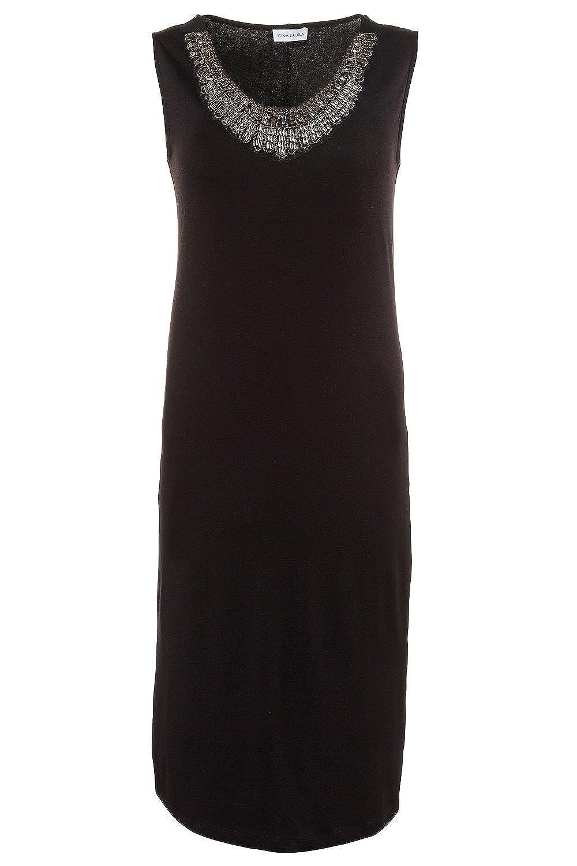 GINA LAURA Damen Kleid | Perlenstickerei, Ärmellos | 184403