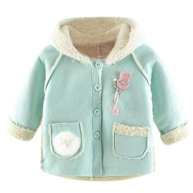 e5c453658 Amazon.com  Doublelift Toddler Baby Girls Winter Hooded Faux Fur ...