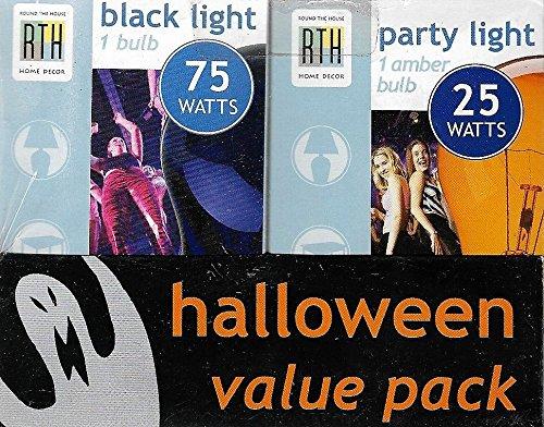 Halloween Value Pack: Party Light (Amber 25W) + Black Light (75W)]()