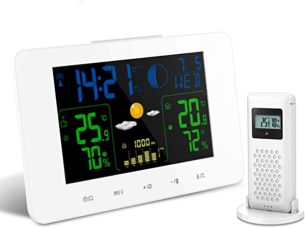 Indoor Weather Station Digital LCD Termometro Monitor Meter Humidity Temperature