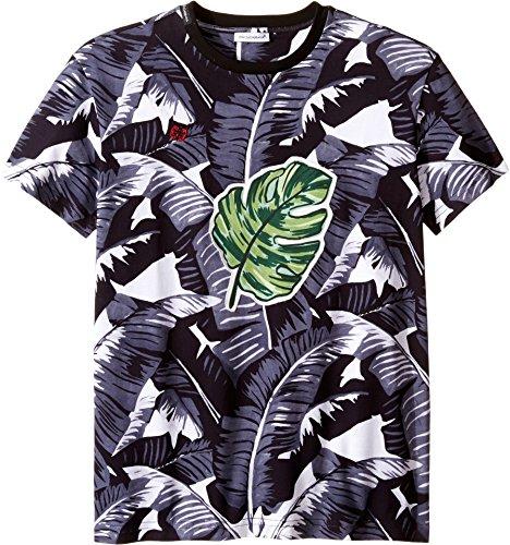 Dolce & Gabbana Kids Boy's Banana Leaf T-Shirt (Big Kids) Black Print - Dolce Shirt Banana T