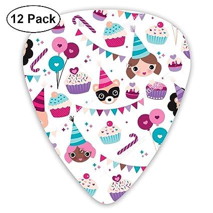 White Girl Cupcake Holiday Guitar Picks - 12 pack,0.46/0.73/0.96 Mm