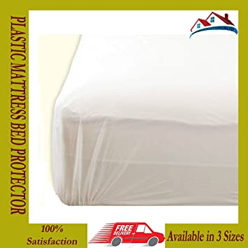 Captivating FancyPoint Double PLASTIC MATTRESS PROTECTOR BED WETTING SHEET COVER WATER  COFFEE TEA PROTECT