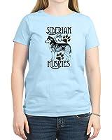 CafePress - Siberian Huskies T-Shirt - Womens Cotton T-Shirt, Crew Neck, Comfortable & Soft Classic Tee