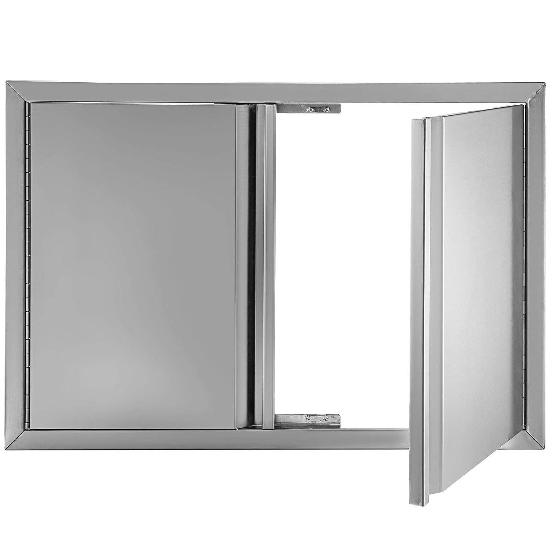 BuoQua Puertas de cocina para exteriores, 28 x 19 pulgadas, puerta de acceso para barbacoa de acero inoxidable 304 cepillado, puerta de barbacoa para cocina al aire libre, isla de barbacoa: Amazon.es: