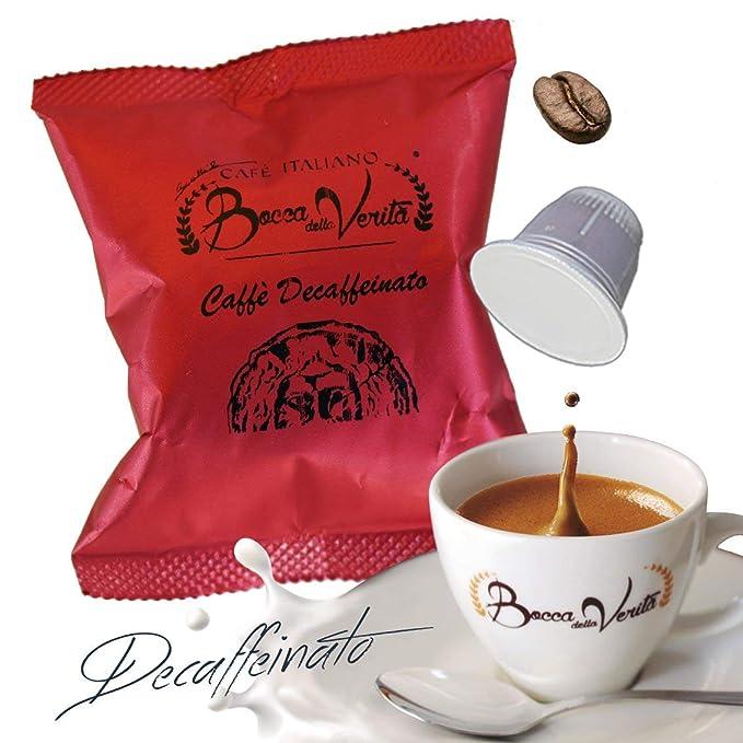 Café cápsula DESCAFEINADO - Nespresso compatible - 100 Cápsulas - Bocca Della Veritá - 100%