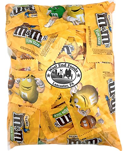 M&Ms Peanuts Milk Chocolate Candy Fun Size Bulk (3 pound Bag)