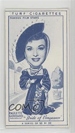 Paulette Goddard Trading Card 1949 Turf Famous Film Stars