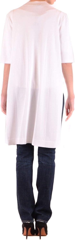 Season Outlet Dexterior Womens MCBI36734 White Cardigan Luxury Fashion