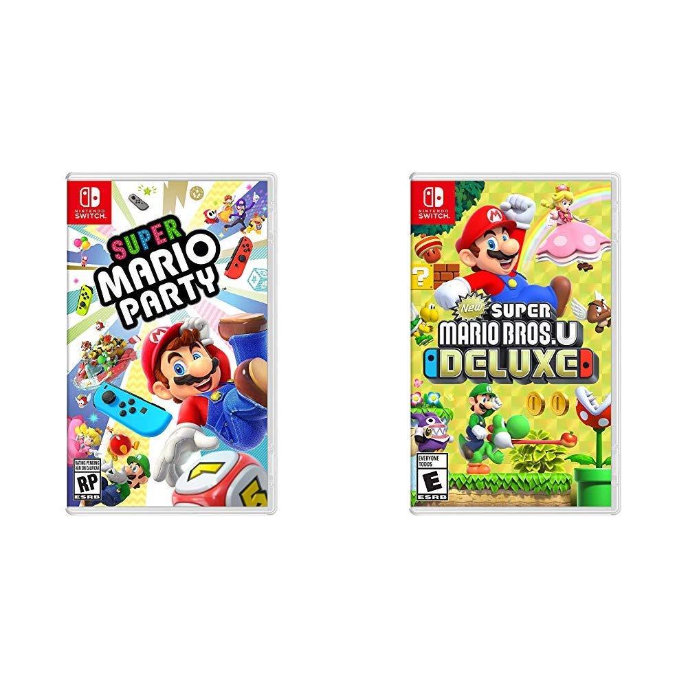 Amazon Com Super Mario Party Bundle With New Super Mario Bros U