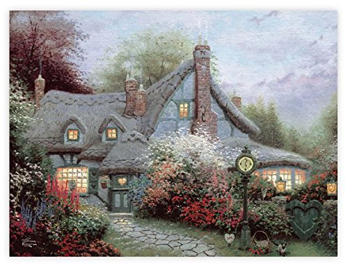 Ceaco Thomas Kinkade The Special Edition Metallic Foil Sweetheart Cottage Puzzle (750 Piece)