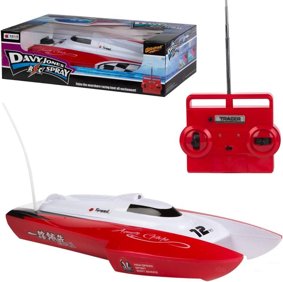 ColorBaby -  Lancha radio control de agua con batería,  Roja(75827)