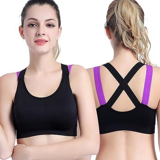 3ac615ee70 TQP-CK Sleep Padded Sports Bra Yoga Jogging Top Wirefree Vest Pack ...
