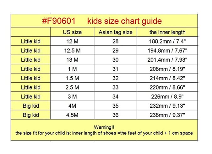 3m us little kid shoe size