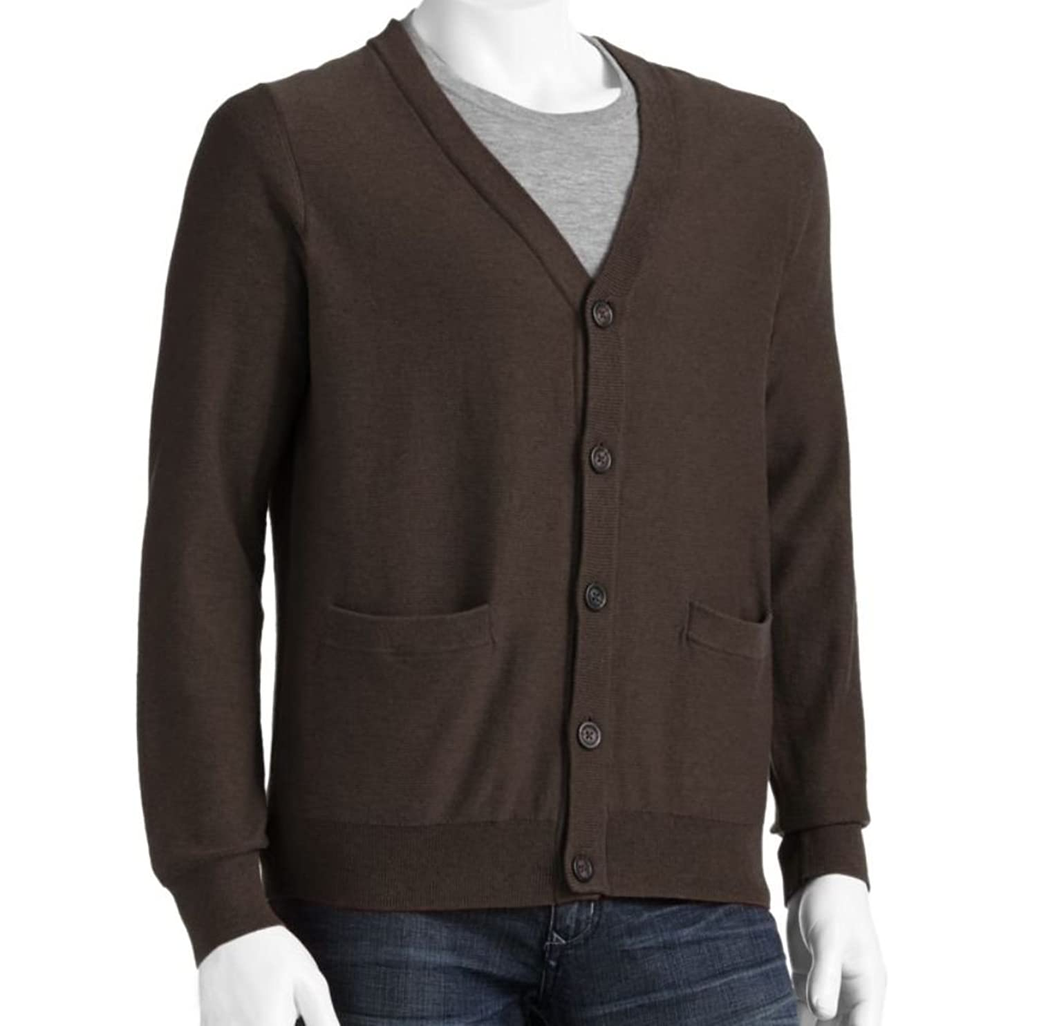 Sonoma Mens Cardigan 100% Cotton Sweater Large Tall LT Brown at ...