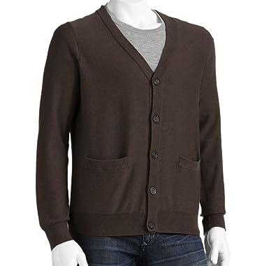 Sonoma Mens Classic Fit Cardigan 100% Cotton Sweater Sizes Big ...