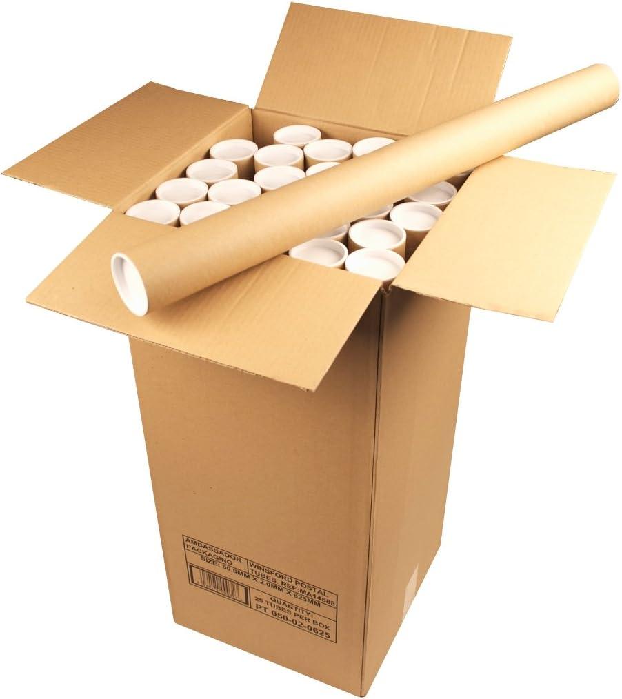 5 Tubes Cardboard Postal Tubes Plastic End Caps Strong A0 865MM X 76mm Diameter